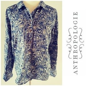 Anthropologie Maeve Floral Button Down 10